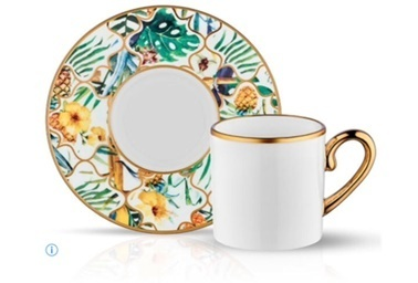 Koleksiyon Eva Amazon Brasil 6'Lı Türk Kahvesi Takımı Renkli